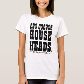 La casa de la escuela vieja dirige a señora el camiseta