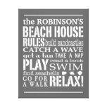 La casa de playa personalizada de la familia gobie impresiones de lienzo