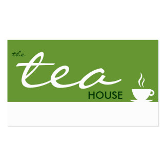 la casa de té (personalizable del color) tarjetas de visita
