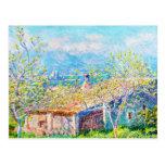 La casa del jardinero en Antibes Claude Monet Tarjetas Postales