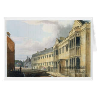 """La casa del primer amo, escuela de grada, de la """"h tarjeta de felicitación"""