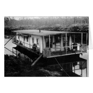 La casa flotante del ingeniero, la Florida Evergla Tarjeta De Felicitación