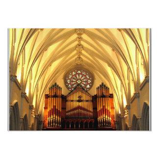 La catedral de San José - desván de coro/tubos de Invitación 12,7 X 17,8 Cm