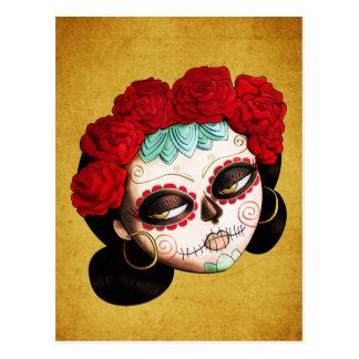 La Catrina - Dia de Los Muertos Girl Postal