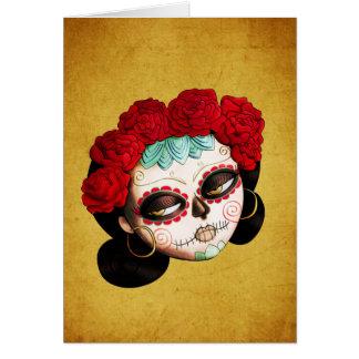 La Catrina - Dia de Los Muertos Girl Tarjeta De Felicitación
