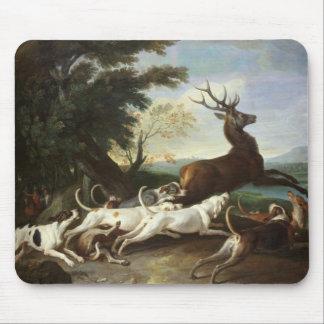 La caza de los ciervos, 1718 alfombrilla de ratón