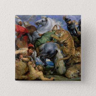 La caza del tigre, c.1616 chapa cuadrada