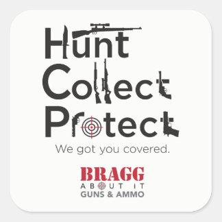 La caza, recoge o protege - al pegatina
