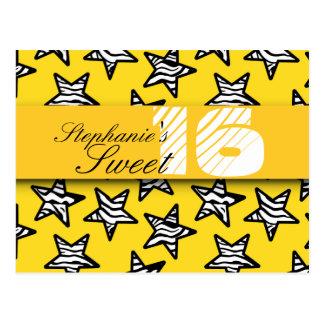 La cebra amarilla protagoniza el dulce postal de 1