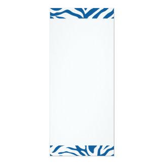 La cebra azul de la diversión raya el estampado de invitación 10,1 x 23,5 cm