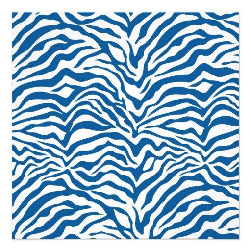 La cebra azul de la diversión raya el estampado de comunicados personales