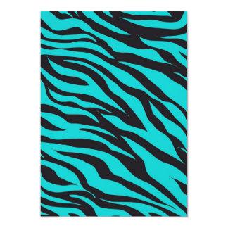 La cebra azul del trullo raya la novedad salvaje invitación 12,7 x 17,8 cm