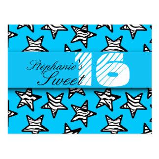 La cebra azul protagoniza el dulce postal de 16 cu