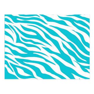 La cebra blanca del trullo de moda raya estampados postal