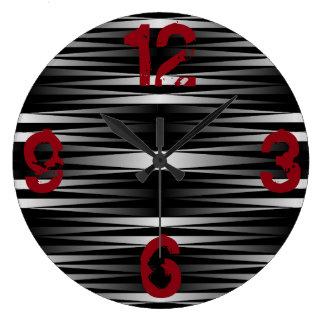 Reloj Redondo Grande La cebra blanca diseñó el reloj