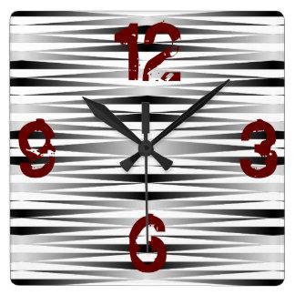 Reloj Cuadrado La cebra blanca diseñó el reloj