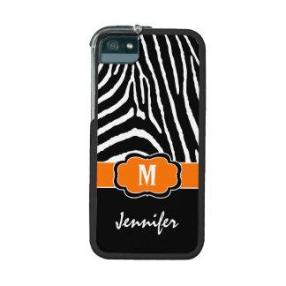 La cebra blanca negra anaranjada rayó el iPhone 5