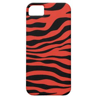 La cebra del color del cinabrio raya el estampado  iPhone 5 Case-Mate protectores