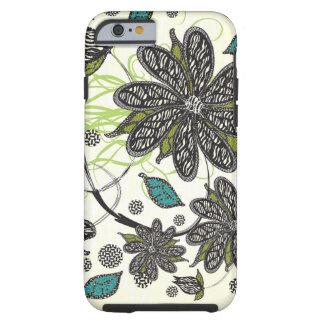 """La """"cebra florece"""" iPhone Funda De iPhone 6 Tough"""
