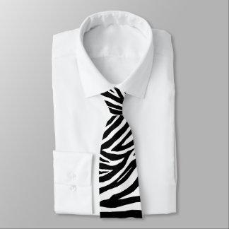 La cebra fresca raya la corbata