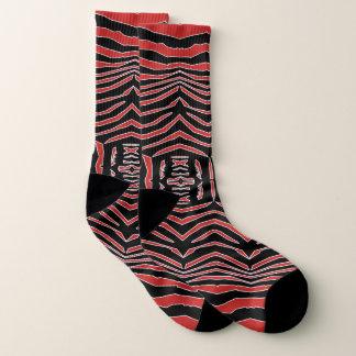 La cebra inspiró calcetines negros rojos