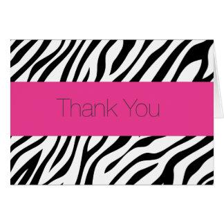 La cebra le agradece tarjeta de nota