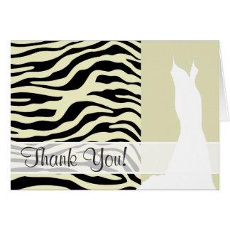 La cebra poner crema raya el estampado de animales tarjeta pequeña