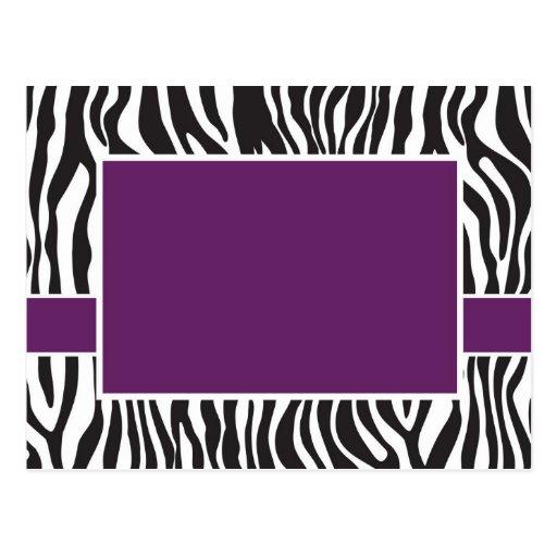 La cebra púrpura invita tarjeta postal