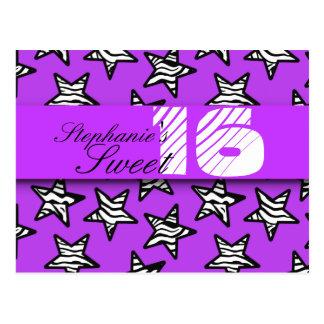 La cebra púrpura protagoniza el dulce postal de 16