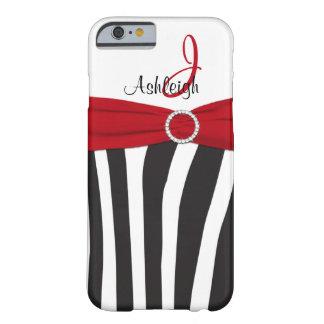 La cebra roja, negra, blanca rayó la caja del funda de iPhone 6 barely there