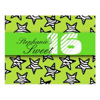 La cebra verde protagoniza el dulce postal de 16 c