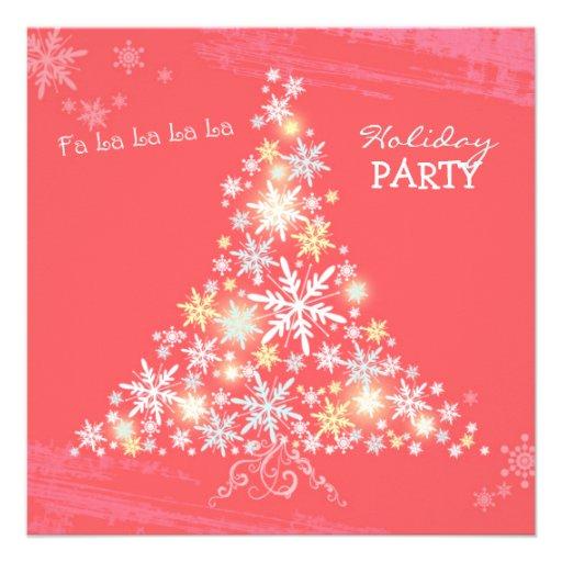 La celebración de días festivos rosada del árbol d invitacion personalizada