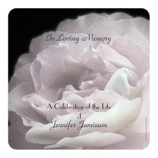 La celebración del cuadrado de la vida invita a invitación 13,3 cm x 13,3cm