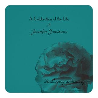 La celebración del cuadrado de la vida invita, invitación 13,3 cm x 13,3cm