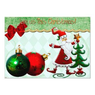 La cena de navidad clásica de la rareza invita invitación 12,7 x 17,8 cm