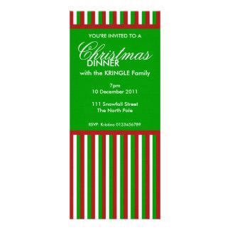 La cena de navidad verde de las rayas del navidad