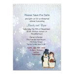 La cena del ensayo de los copos de nieve del boda invitación 12,7 x 17,8 cm