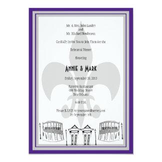 La cena del ensayo de New Orleans invita a la Invitación 12,7 X 17,8 Cm