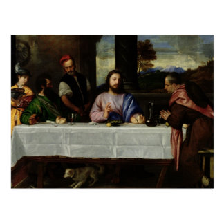 La cena en Emmaus, c.1535 Postal