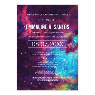 La ceremonia conmemorativa de la galaxia invita invitación 12,7 x 17,8 cm
