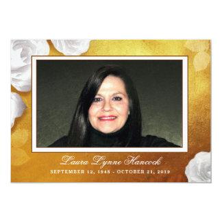 La ceremonia conmemorativa de oro de la foto del invitación 12,7 x 17,8 cm