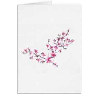 la cereza florece II Tarjeta De Felicitación