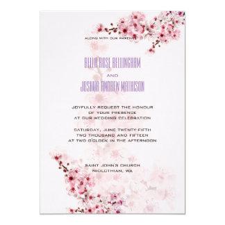 Tarjeta La cereza ramifica invitación del boda