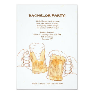 La cerveza anima la invitación