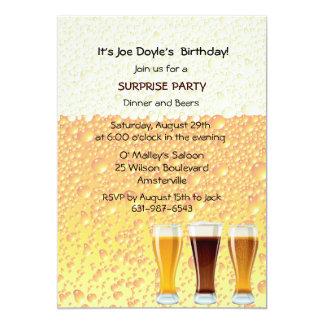 La cerveza anima la invitación invitación 12,7 x 17,8 cm
