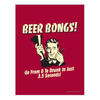 La cerveza Bongs: Vaya a partir de la 0 a borracho Postal