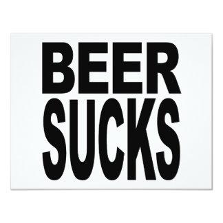 La cerveza chupa invitación 10,8 x 13,9 cm