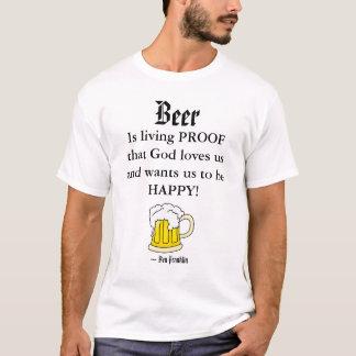 La cerveza, es livin… camiseta