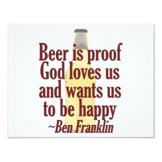 La cerveza es prueba comunicado personal