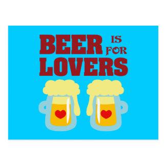 La cerveza está para los amantes postal